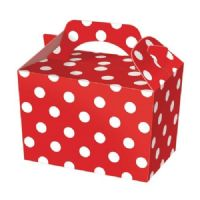 Red Polka Dot / Spot Meal Party Box